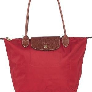 LONGCHAMP: Le Pliage Red Tote Bag